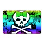 Rainbow Skull Magnet (Rectangular)