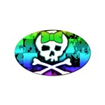 Rainbow Skull Sticker Oval (100 pack)