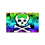 Rainbow Skull Sticker Rectangular (10 pack)