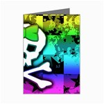 Rainbow Skull Mini Greeting Card