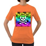 Rainbow Skull Women s Dark T-Shirt