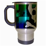 Rainbow Skull Travel Mug (Silver Gray)