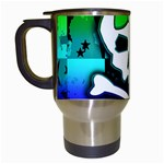 Rainbow Skull Travel Mug (White)