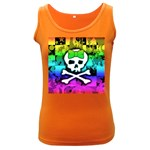 Rainbow Skull Women s Dark Tank Top
