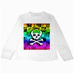 Rainbow Skull Kids  Long Sleeve T-Shirt