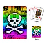 Rainbow Skull Playing Cards Single Design (Rectangle)