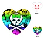 Rainbow Skull Playing Cards Single Design (Heart)