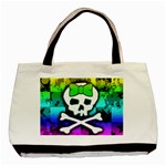 Rainbow Skull Basic Tote Bag