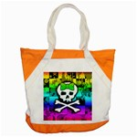 Rainbow Skull Accent Tote Bag