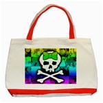 Rainbow Skull Classic Tote Bag (Red)