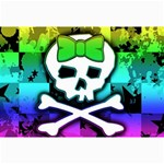 Rainbow Skull Canvas 12  x 18