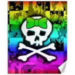 Rainbow Skull Canvas 16  x 20