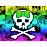 Rainbow Skull Canvas 18  x 24