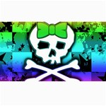 Rainbow Skull Canvas 40  x 72