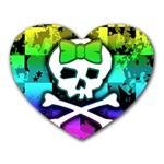 Rainbow Skull Heart Mousepad
