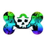 Rainbow Skull Dog Tag Bone (One Side)