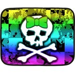 Rainbow Skull Double Sided Fleece Blanket (Mini)