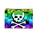 Rainbow Skull Cosmetic Bag (Large)