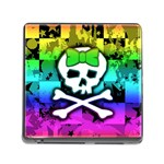 Rainbow Skull Memory Card Reader (Square 5 Slot)