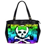 Rainbow Skull Oversize Office Handbag (2 Sides)