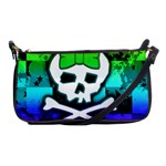 Rainbow Skull Shoulder Clutch Bag