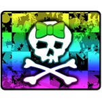 Rainbow Skull Fleece Blanket (Medium)