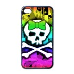 Rainbow Skull iPhone 4 Case (Black)