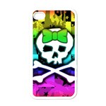 Rainbow Skull iPhone 4 Case (White)