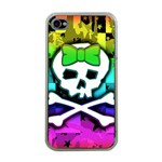 Rainbow Skull iPhone 4 Case (Clear)