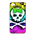 Rainbow Skull iPhone 4/4s Seamless Case (Black)