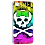 Rainbow Skull iPhone 4/4s Seamless Case (White)