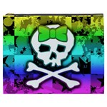 Rainbow Skull Cosmetic Bag (XXXL)