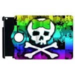 Rainbow Skull Apple iPad 2 Flip 360 Case