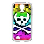 Rainbow Skull Samsung GALAXY S4 I9500/ I9505 Case (White)