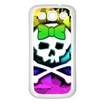 Rainbow Skull Samsung Galaxy S3 Back Case (White)