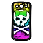 Rainbow Skull Samsung Galaxy S3 Back Case (Black)