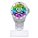 Rainbow Skull Plastic Nurses Watch