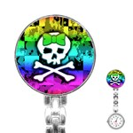 Rainbow Skull Stainless Steel Nurses Watch