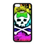 Rainbow Skull iPhone 5C Seamless Case (Black)