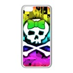 Rainbow Skull iPhone 5C Seamless Case (White)