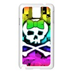 Rainbow Skull Samsung Galaxy Note 3 N9005 Case (White)