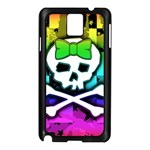 Rainbow Skull Samsung Galaxy Note 3 N9005 Case (Black)