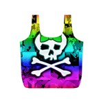 Rainbow Skull Full Print Recycle Bag (S)