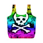 Rainbow Skull Full Print Recycle Bag (M)