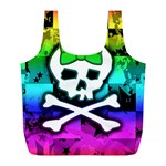 Rainbow Skull Full Print Recycle Bag (L)