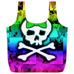 Rainbow Skull Full Print Recycle Bag (XL)