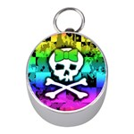 Rainbow Skull Silver Compass (Mini)
