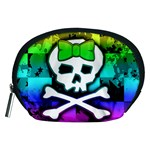 Rainbow Skull Accessory Pouch (Medium)