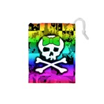 Rainbow Skull Drawstring Pouch (Small)