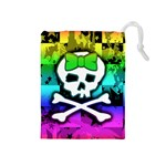 Rainbow Skull Drawstring Pouch (Medium)